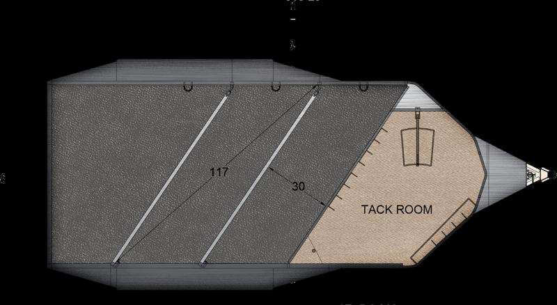 2018 Trails West Adventure MX - Aluminum Skin - Convenience Pkg - 3 Horse Trailer - Windows in Rear Doors