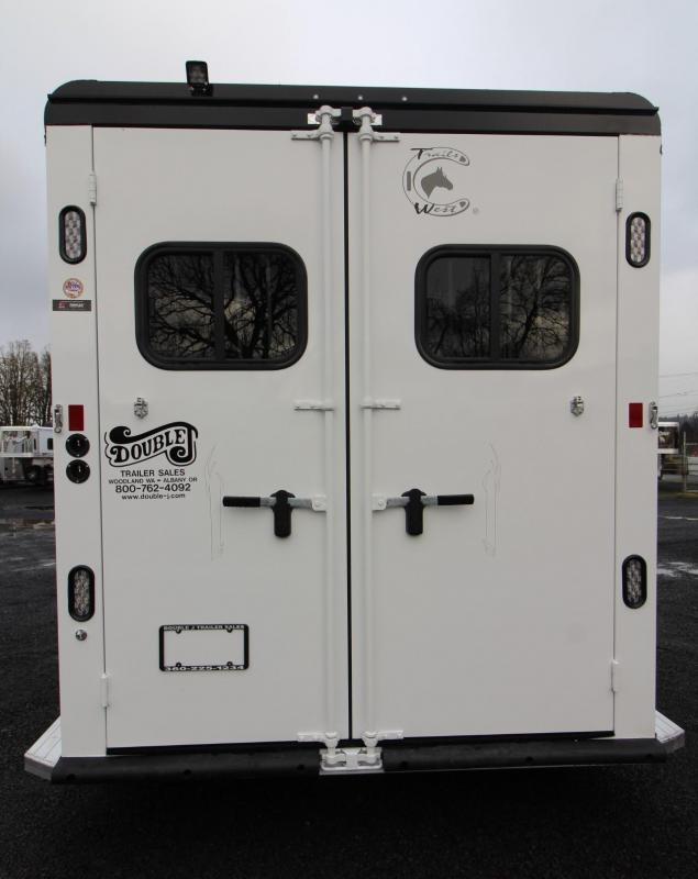 """2019 Trails West Sierra Select 7' 6"""" Tall 2 Horse Trailer Seamless Aluminum vacuum bonded walls & roof"""