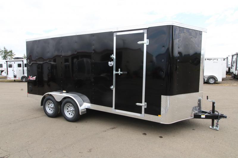 2019 Mirage Xpres - 7x16 Utility Trailer- black exterior - Rear ramp door- Xtra package