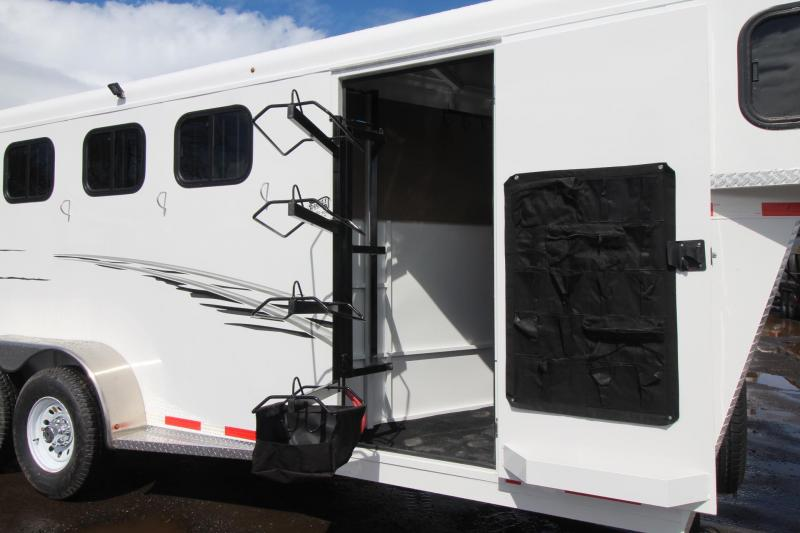 2018 Trails West Adventure MX 4 Horse Trailer - Aluminum Skin Steel Frame