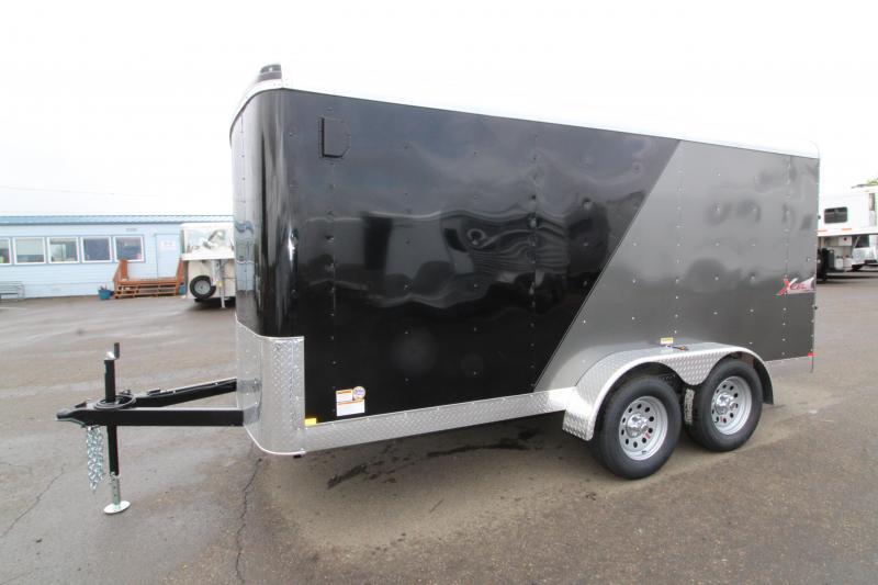 2019 Mirage Xcel 7x14 Enclosed Cargo Trailer- Xtra package - Ramp rear door - RV mandoor -  Dual Exterior Color - Domed roof - Radius front