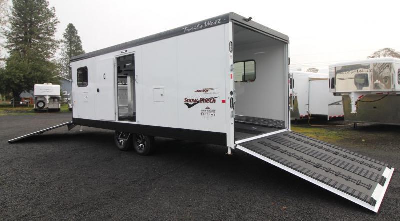 2019 Trails West 28ft RPM Burandt Edition Snowmobile Trailer W/ Power Rear Ramp