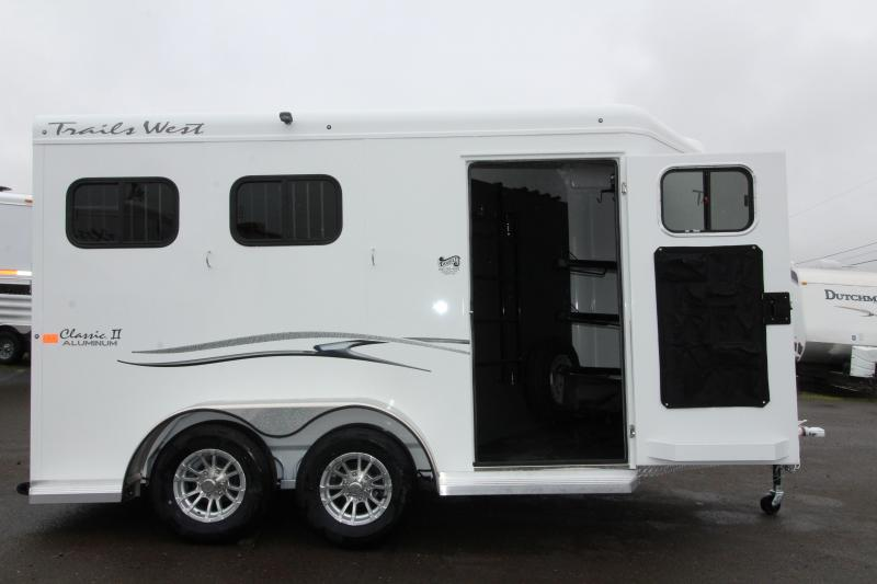 """2019 Trails West Classic 2 Horse Trailer - Extra Tall 7'6"""""""