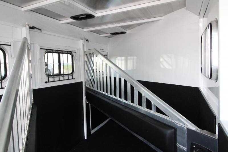 """2019 Trails West Classic 3 Horse Trailer- Warmblood Sized Stalls and Extra Tall 7'6"""" w/ Escape Door!"""