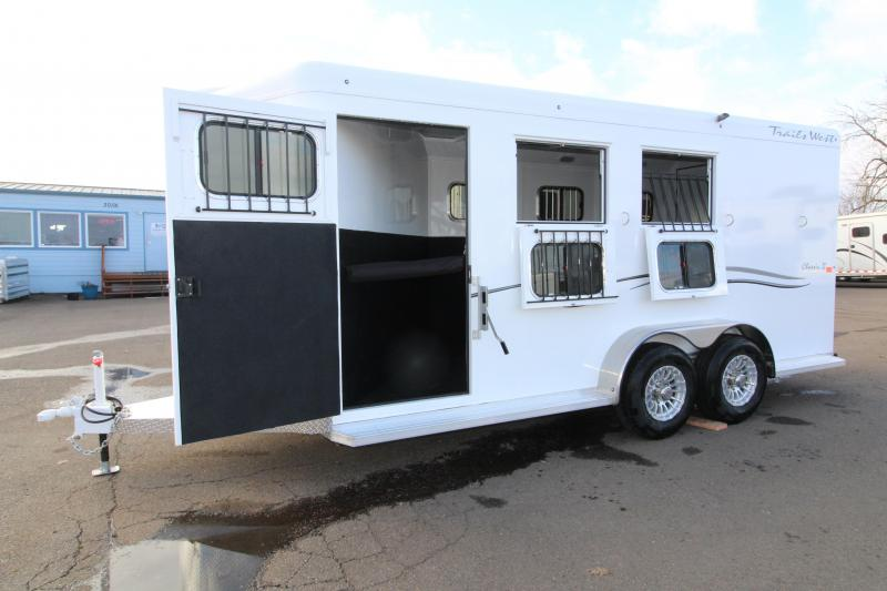 "2019 Trails West Classic 3 Horse Trailer- Warmblood Sized Stalls and Extra Tall 7'6"" w/ Escape Door!"