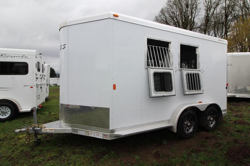2018 Exiss 720 Aluminum 2 Horse Trailer - Large Tack Room - Swing out Saddle Rack - Polylast Flooring PRICE REDUCED $1075