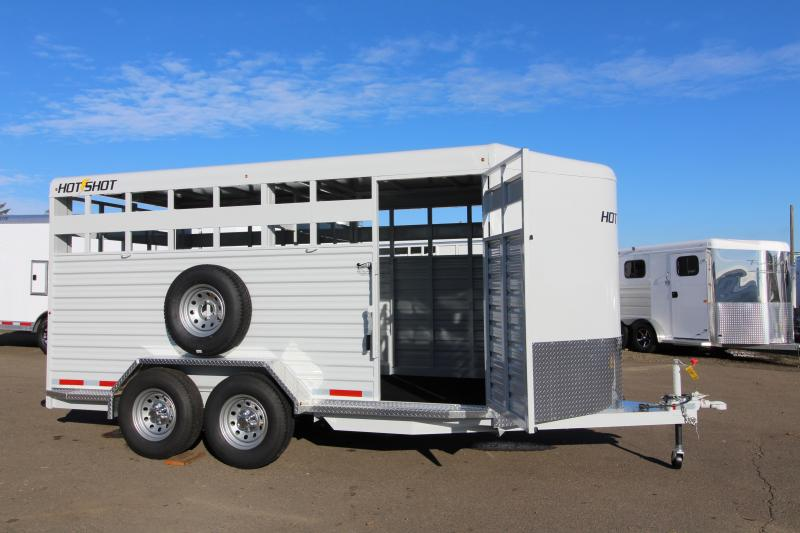 2019 Trails West Hotshot 17 ft w/ Rear Slider Gate - Bumper Pull  Stock Trailer