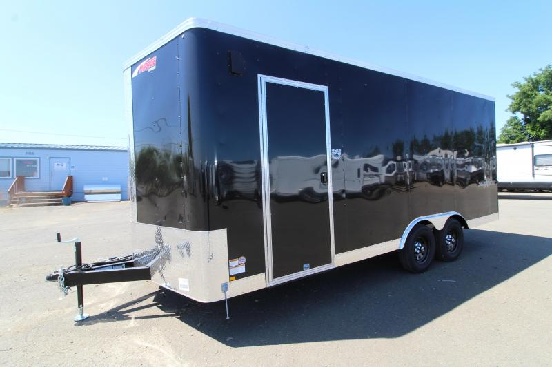 2020 Mirage Xpres 8.5x20 Car / Racing Trailer - Side by side package - V nose - Flat roof - Black exterior