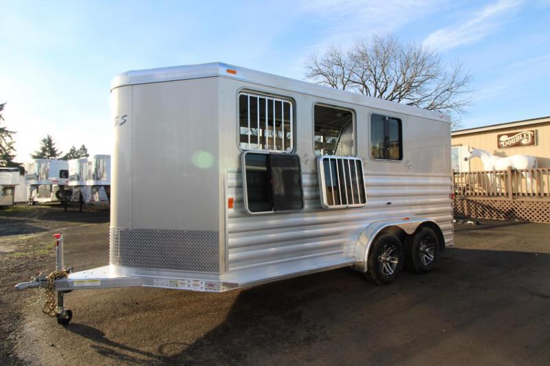 2018 Exiss Express CXF W/ Jail Bar Dividers Upgraded Side Sheets - Plexi Added - 3 Horse Bumper Pull Trailer $$Reduced$$