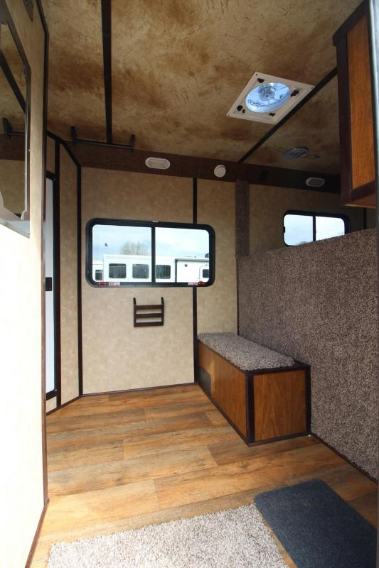 2018 Trails West Classic W/ Comfort Package 5x5 Dressing Room 4 Horse Trailer - Side Tack
