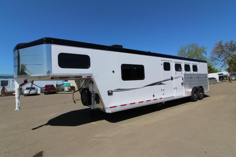 2019 Trails West Sierra 8 x 13' LQ 3 Horse Trailer - With Full Angled Mid Tack Room! TONS of Storage!
