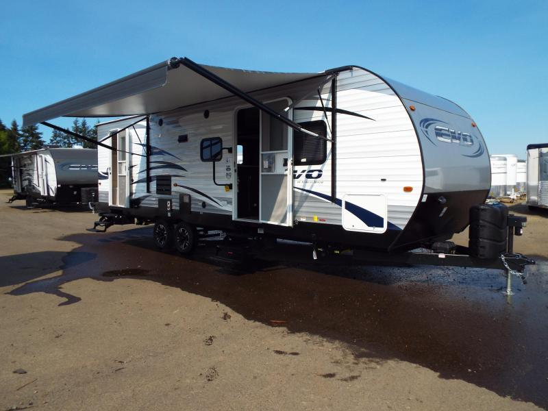 2018 Evo Travel Trailer Model 2850 w/ Bunk Beds - Slide Out - Arctic Package - Solar Prep - PRICE REDUCED BY $1900 in Paisley, OR