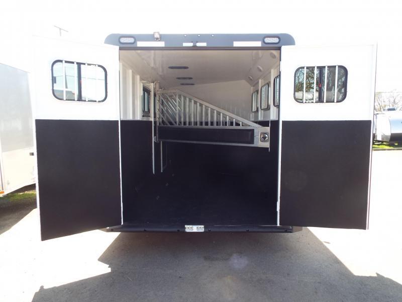 2017 Trails West Sierra Specialite 3 Horse Trailer - Steel Frame Aluminum Skin -Escape Door PRICE REDUCED!