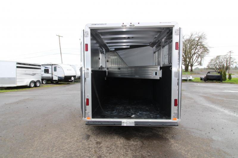 2018 Featherlite 9409 2 Horse Bumper Pull Trailer - All Aluminum - 7' Tall - Roomy Tack Room with Swing Out Saddle Rack - Champagne Exterior Color - PRICE REDUCED BY $1000