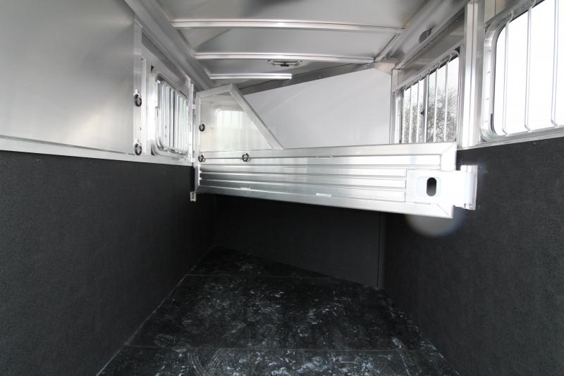 2018 Featherlite 9409 2 Horse Bumper Pull Trailer - All Aluminum - 7' Tall - Roomy Tack Room with Swing Out Saddle Rack - Champagne Exterior Color