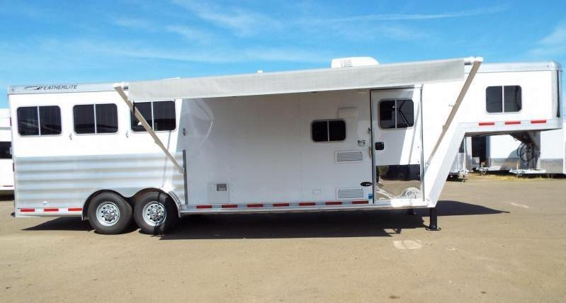 "2017 Featherlite 8542 - 9 ft LQ - 3 Horse - Mangers - All Aluminum Horse Trailer - 7'6"" Wide and Tall - LARGE Stall Size - TOTAL REDUCTION OF $6000!!!"