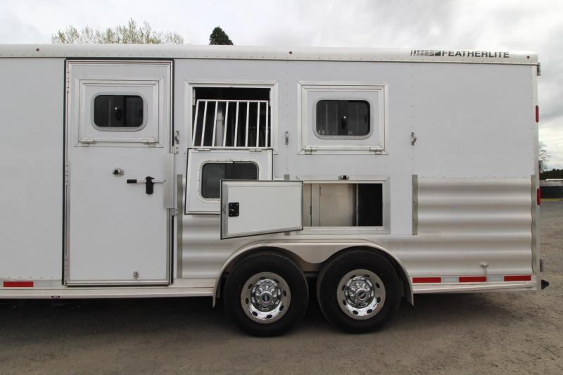 """2017 Featherlite 8542 - 9 ft LQ - 3 Horse - Mangers - All Aluminum Horse Trailer - 7'6"""" Wide and Tall - LARGE Stall Size - TOTAL REDUCTION OF $6000!!!"""