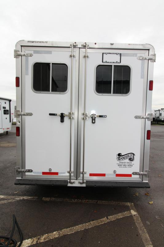 "2017 Featherlite 8542 9 ft LQ - 3 Horse - Mangers - All Aluminum Horse Trailer - 7'6"" Wide and Tall - LARGE 54"" Off Set Stall Size - REDUCED $4550"