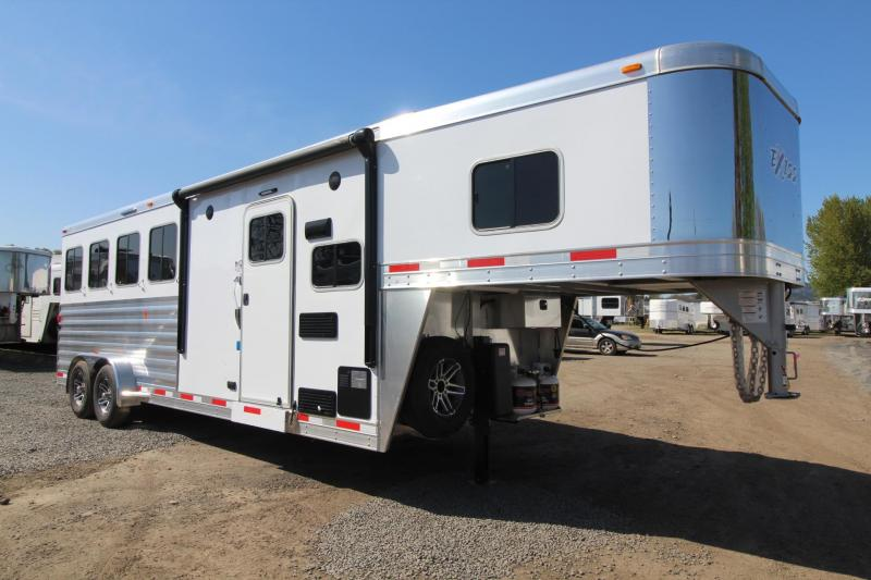 2018 Exiss Escape 7406 - 6ft Short Wall LQ - 4 Horse Trailer - Polylast Easy Care Flooring PRICE REDUCED $1000 in Garibaldi, OR