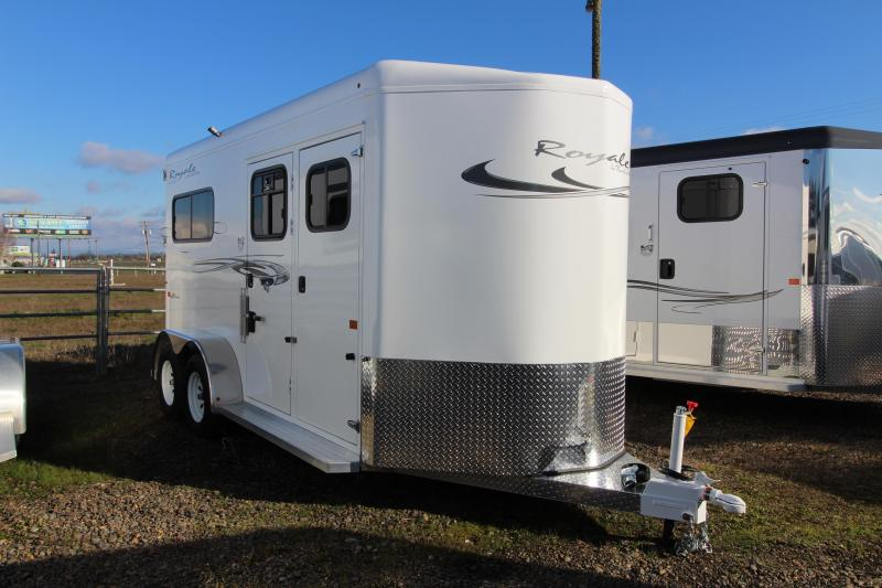 2019 Trails West Royale Plus Two Horse Straight Load-No Mangers-Feed Bags-Escape Doors- Rear Ramp