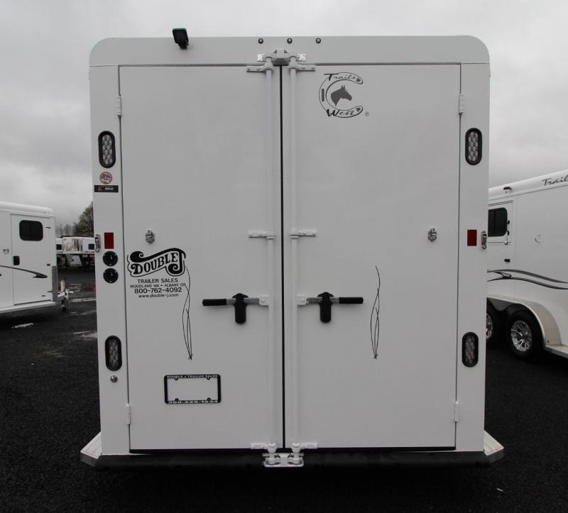 """2019 Trails West Classic II 7' 6"""" Tall 2 Horse Trailer Lined & Insulated Roof"""