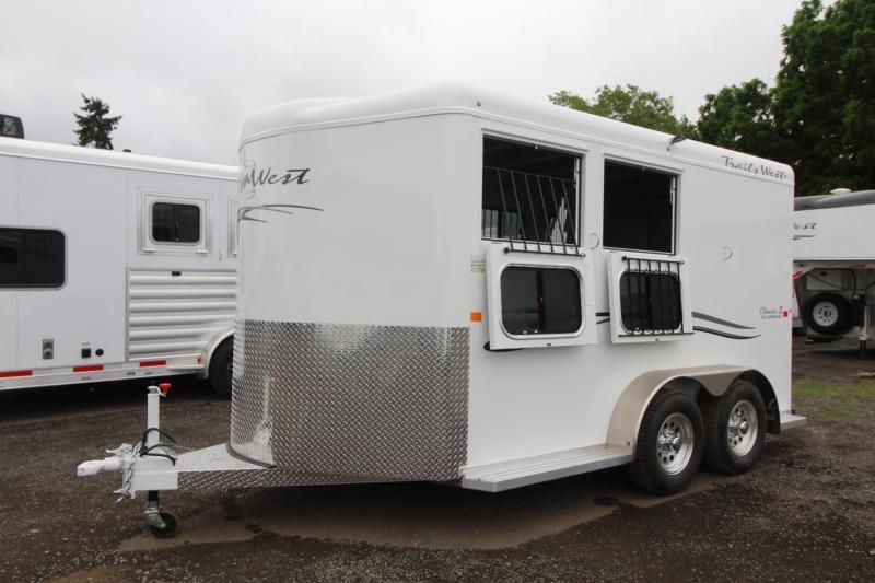 2018 Trails West Classic - Aluminum Skin Steel Frame - 2 Horse Trailer