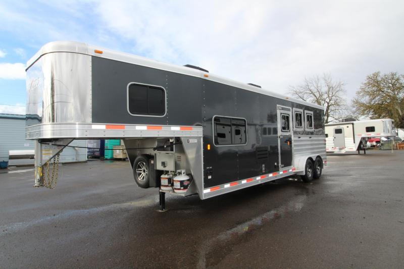 2019 Exiss 7310 - 3 Horse Trailer 10' SW LQ - All Aluminum - Easy Care Flooring - Power Awning - Upgraded Interior Options