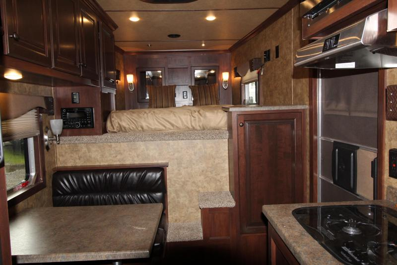 2019 Exiss Trailers 7310 - 3 Horse Trailer 10' SW LQ - All Aluminum - Easy Care Flooring - Power Awning - Upgraded Interior Options
