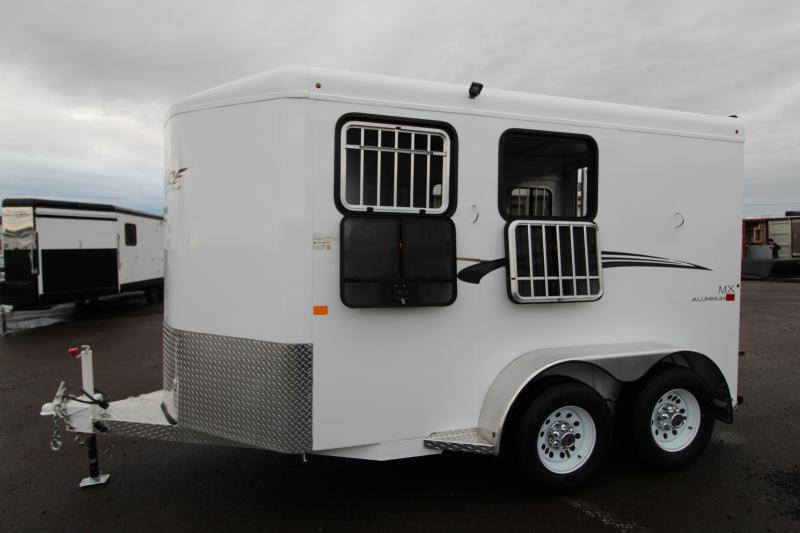 2019 Trails West Adventure MX 2 Horse Trailer - NEW Larger Stall Sizes - Swing Out Saddle Rack - UPGRADED with Windows in Rear Doors