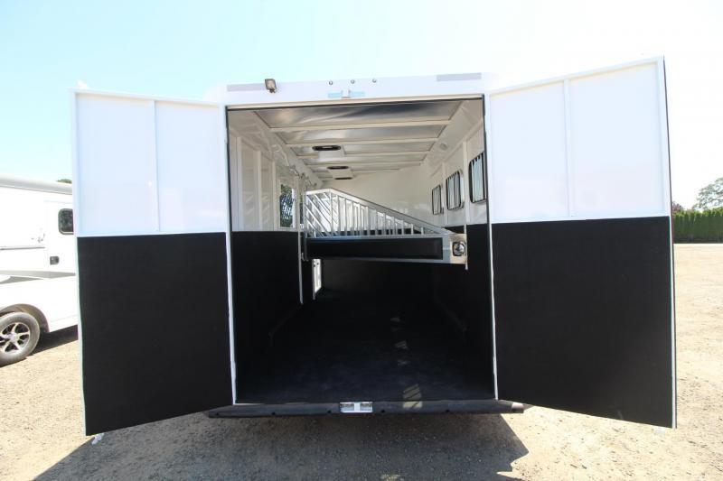 "2017 Trails West Classic 7' 6"" Tall - Escape Door - 3 Horse Trailer"