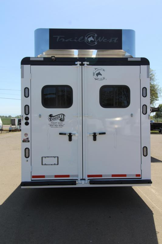 2019 Trails West 3 Horse Trailer 11' SW Living Quarter- Full Angle Mid Tack - Generator Prepped - Hay Rack