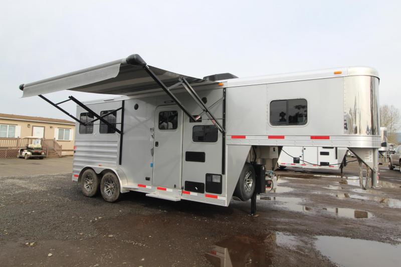 2018 Exiss Escape 7206 - 6' Short Wall LQ 2 Horse Trailer - Polylast Flooring