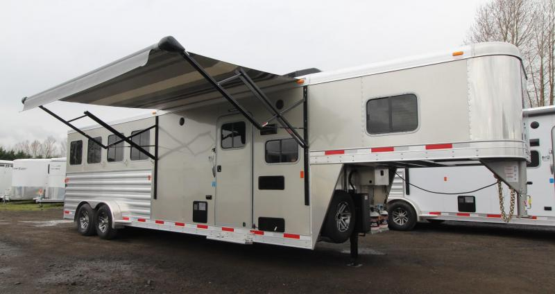 "2019 Exiss Escape 7408 Living Quarters 8' 6"" SW - 4 Horse Trailer"