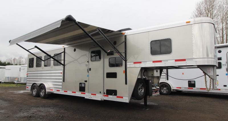 """2019 Exiss Escape 7408 Living Quarters 8' 6"""" SW - 4 Horse Trailer - $REDUCED$"""