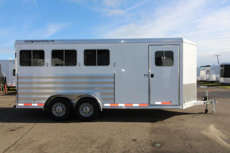 2018 Featherlite 9409 3 Horse Bumper Pull Trailer - All Aluminum - 7' Tall - Swing Out Saddle Rack - First Stall Escape Door