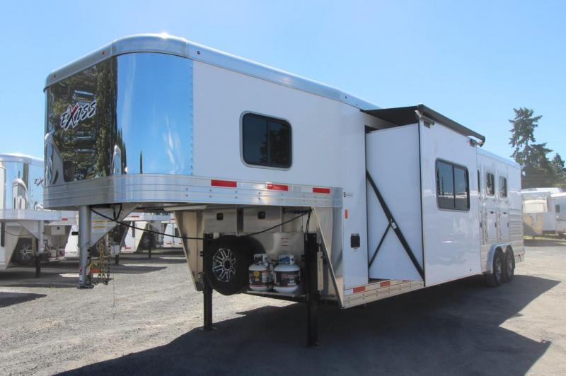 2019 Exiss Trailers 8410 Slide Lined Insulated Easy Care Flooring Horse Trailer