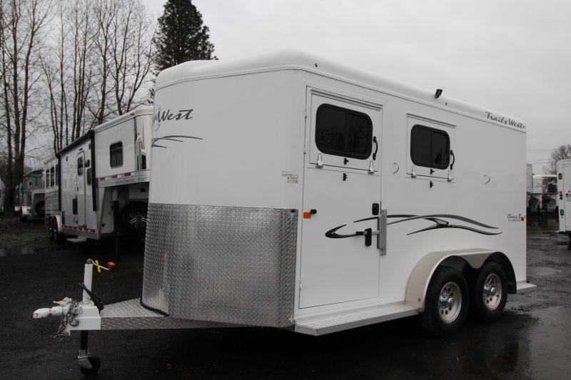 "2018 Trails West Classic II Warmblood w/ Escape Door - 7' 6"" Tall - 2 Horse Trailer"