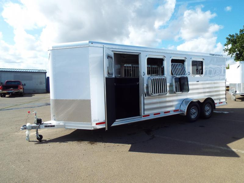 "2018 Featherlite 9409 4 Horse All Aluminum Trailer - 6'7"" Wide 7' Tall -w/ Rear Folding Tack"