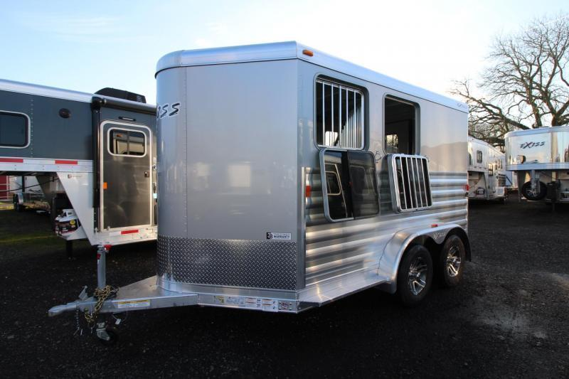 2018 Exiss Express 2 Horse Trailer W/ Jail Bar Dividers and Polylast Flooring - SILVER - PRICE REDUCED $950