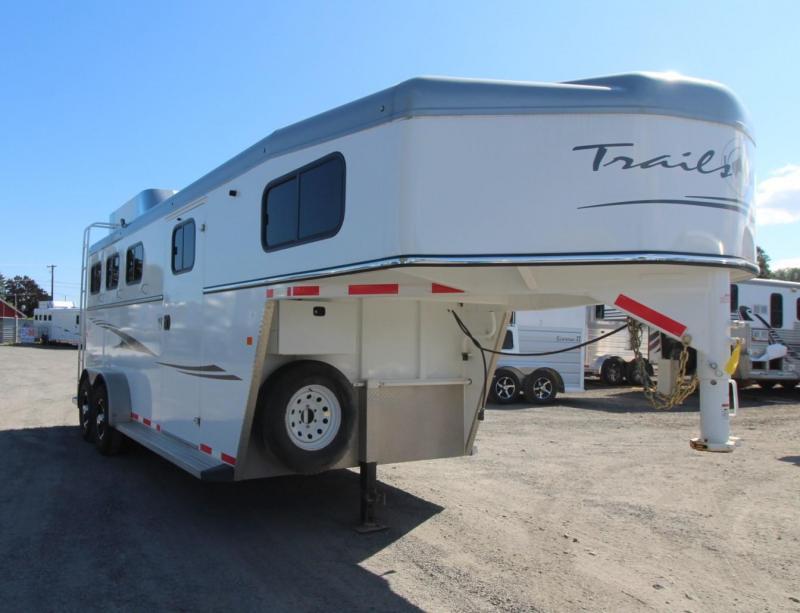 2017 Trails West Sierra 3 Horse Trailer w/ Hay Rack