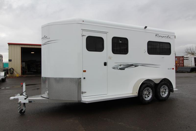 2019 Trails West Royale SxS 2 Horse Trailer - Straight Load - Warmblood - w/ Water Tank - Upgraded Aluminum Wheels - Convenience Package