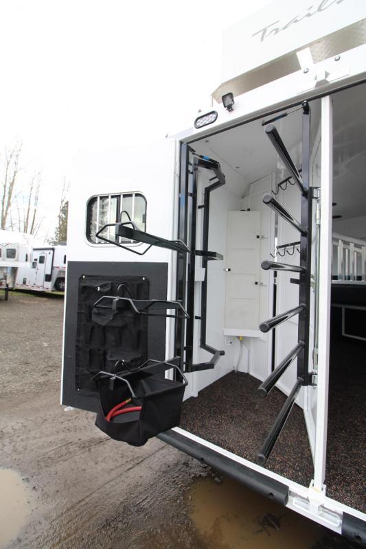 2018 Trails West Sierra 11x15 W/ Slide 3 Horse Living Quarters Trailer - Hay Rack - Hoof Grip Easy Care Flooring