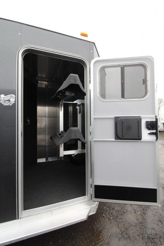 """2018 Exiss 720 - Polylast flooring - 7' 6"""" Tall - 2 Horse Trailer - Large Tack Room!"""
