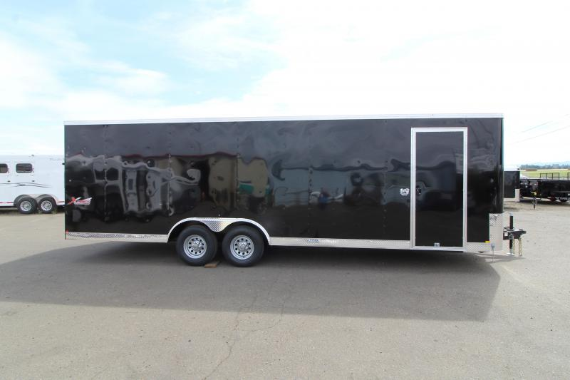 2020 Mirage Xpres 8.5X24 Car / Racing Trailer - Tandem Axle - Black Exterior - Flat roof- V Nose-  Car carrier package
