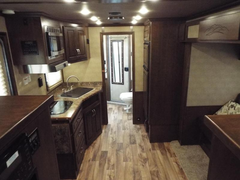 """2016 Featherlite 9821 - 3 Horse w/ Liberty 13' SW Interior 8' Wide 7'6"""" Tall- Spacious Living Quarters - Real Wood Cabinetry w/ Lots of Storage REDUCED $2090"""