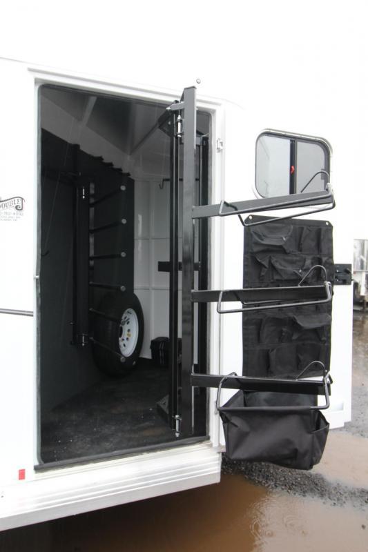 2018 Trails West Classic  - Aluminum Skin Steel Frame - 3 Horse Trailer W/ Escape Door