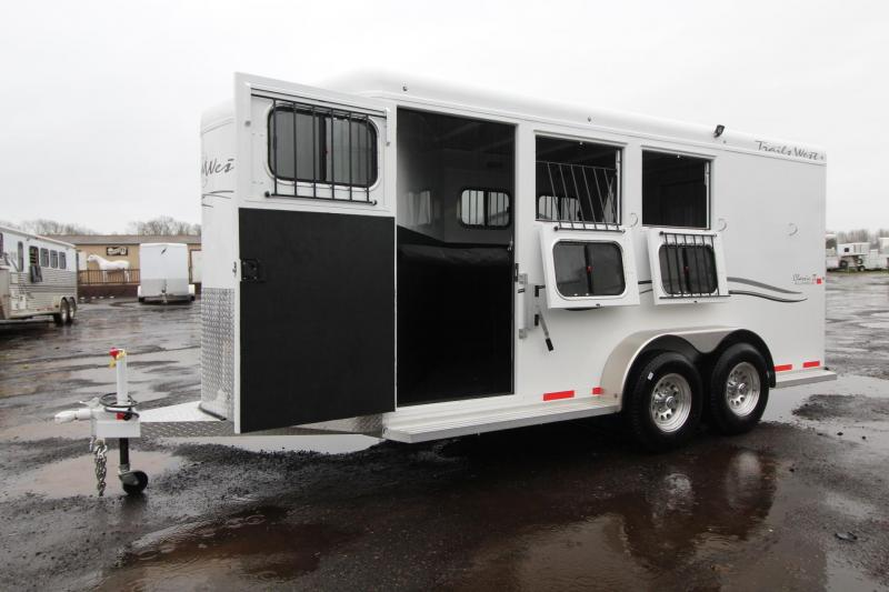 2018 Trails West Classic  - Aluminum Skin Steel Frame - 3 Horse Trailer W/ Escape Door