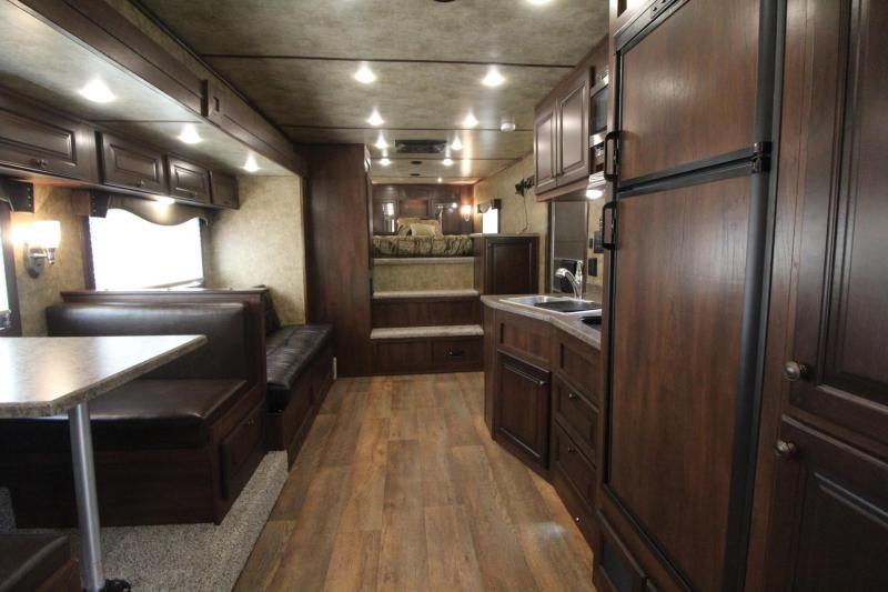 2018 Exiss 8416 - 4 Horse - 16' SW LQ w/ Slide Out All Aluminum Horse Trailer - Dinette and Sofa!  TOTAL PRICE REDUCTION OF $4000