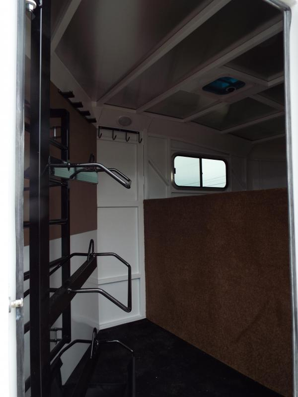 2017 Trails West Classic SpeciALite Aluminum Skin -  3 Horse Trailer w/ Convenience Pkg -Hot Wire Pkg - 7' Tall and Wide - Escape Door