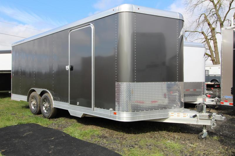2019 Featherlite 4926 20' Enclosed Car Trailer - All Aluminum - Charcoal Exterior Sheets - 7' Tall